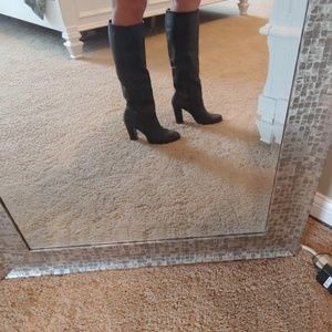 INC black leather boots, 8